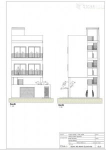 south and north elevations